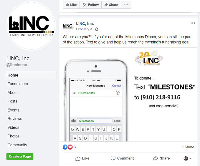 Linc-GivBee-text-to-give